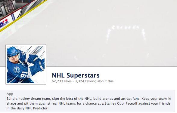 NHL Superstars Facebook Game