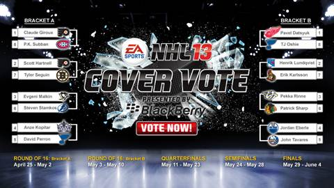 NHL 13 Cover Vote Bracket