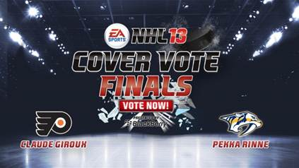 Giroux Versus Rinne in EA SPORTS NHL 13 Cover Vote Finals