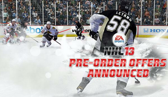 NHL 13 Pre-order Offers
