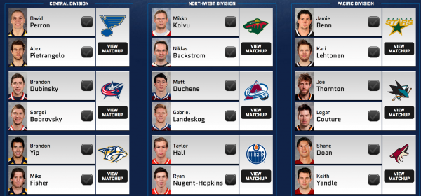 NHL 14 Cover Vote Round One Match-up