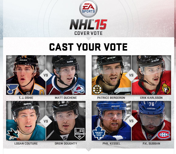 NHL 15 Cover Voting